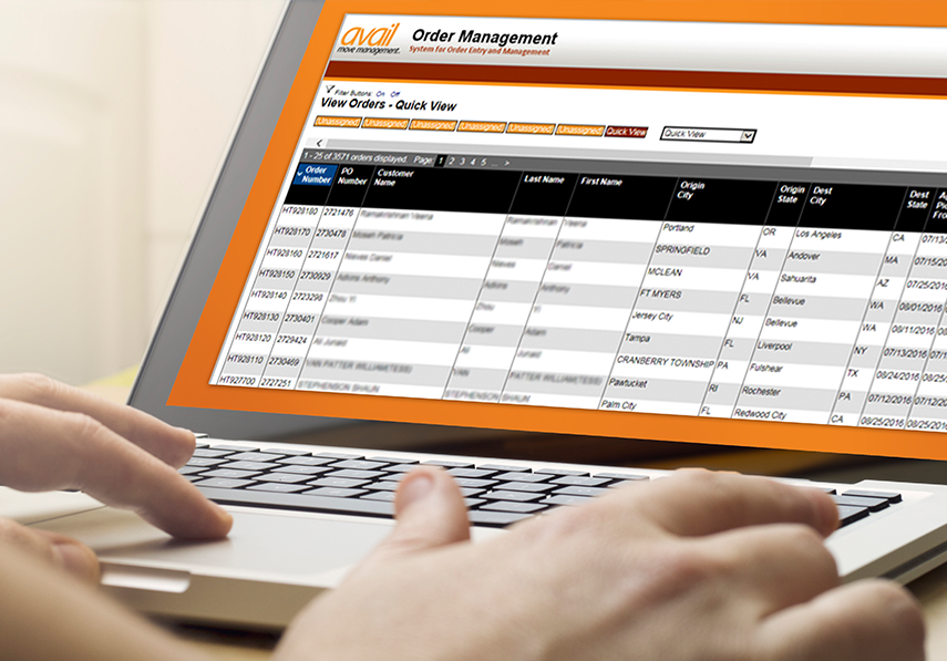 Avail Order Management online reporting